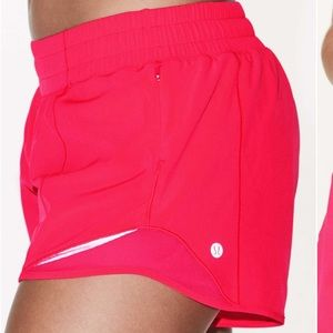 Lululemon hot pink tall long running short